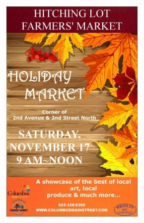Nov. 17: Holiday Market, Columbus