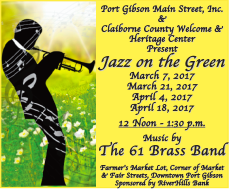 Apr. 4: Jazz on the Green in Port Gibson